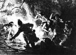 Abduction of Daniel Boone/'s Daughter Historic Art Print