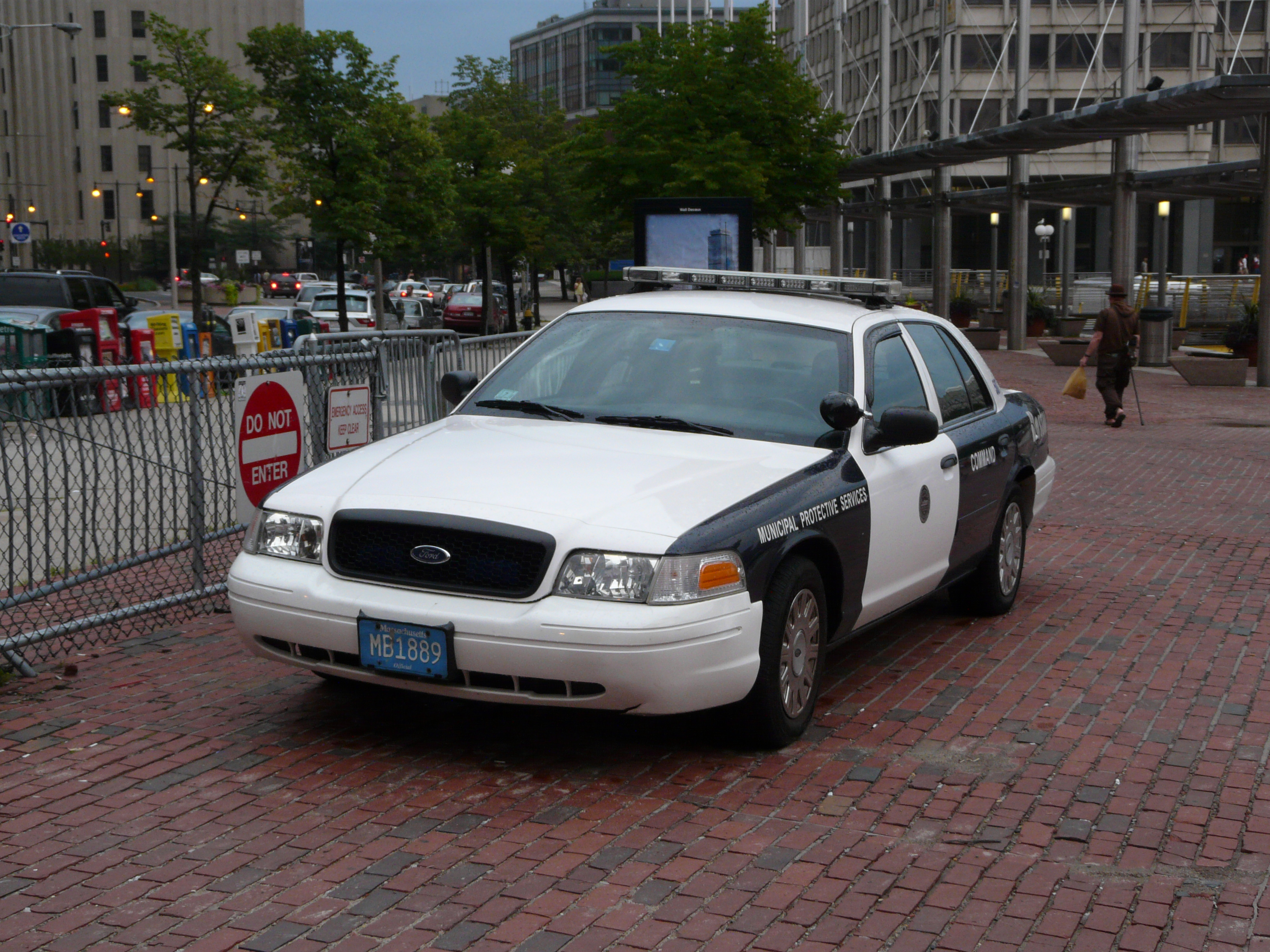 Boston Police Car Accident