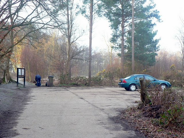 Car park near Fleet Pond - geograph.org.uk - 1202553