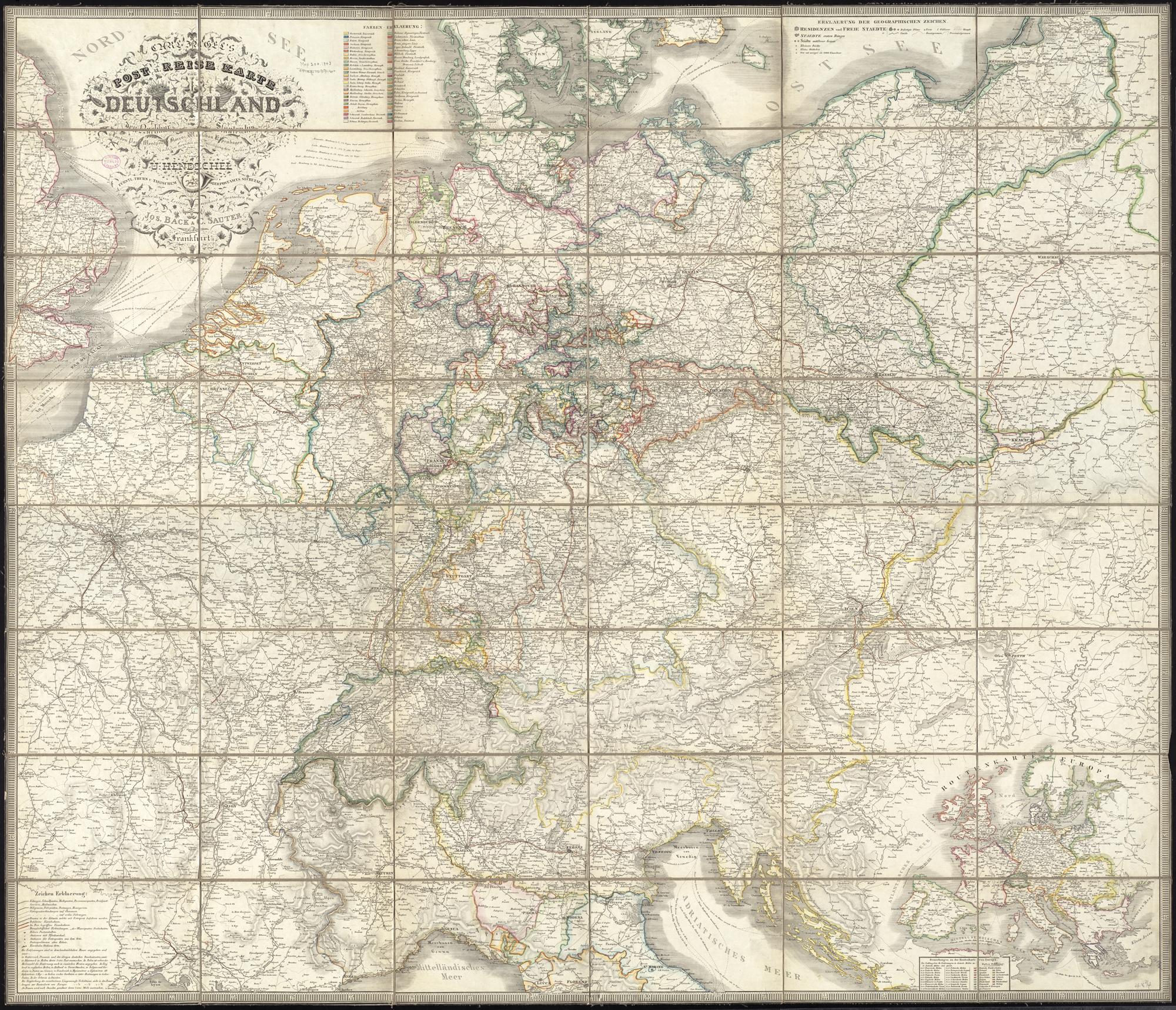 File Carl Jugel S Post U Reise Karte Von Deutschland Und Den