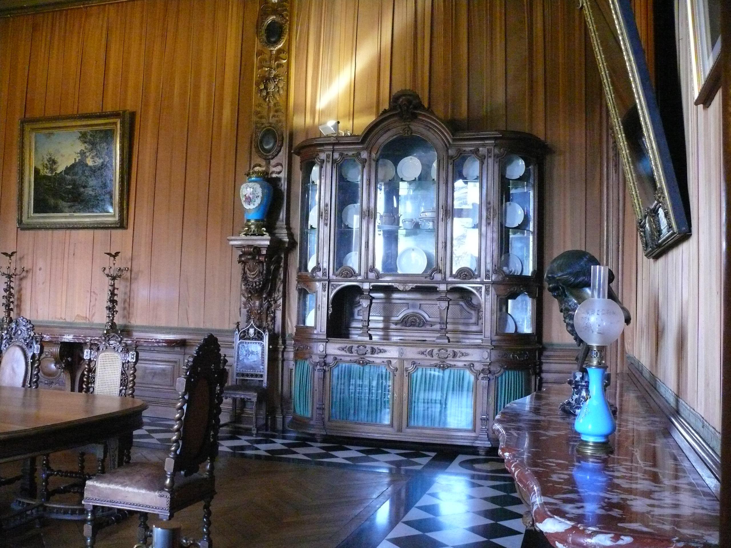 file ch teau de ferri res ferri res en brie salle manger wikimedia commons. Black Bedroom Furniture Sets. Home Design Ideas