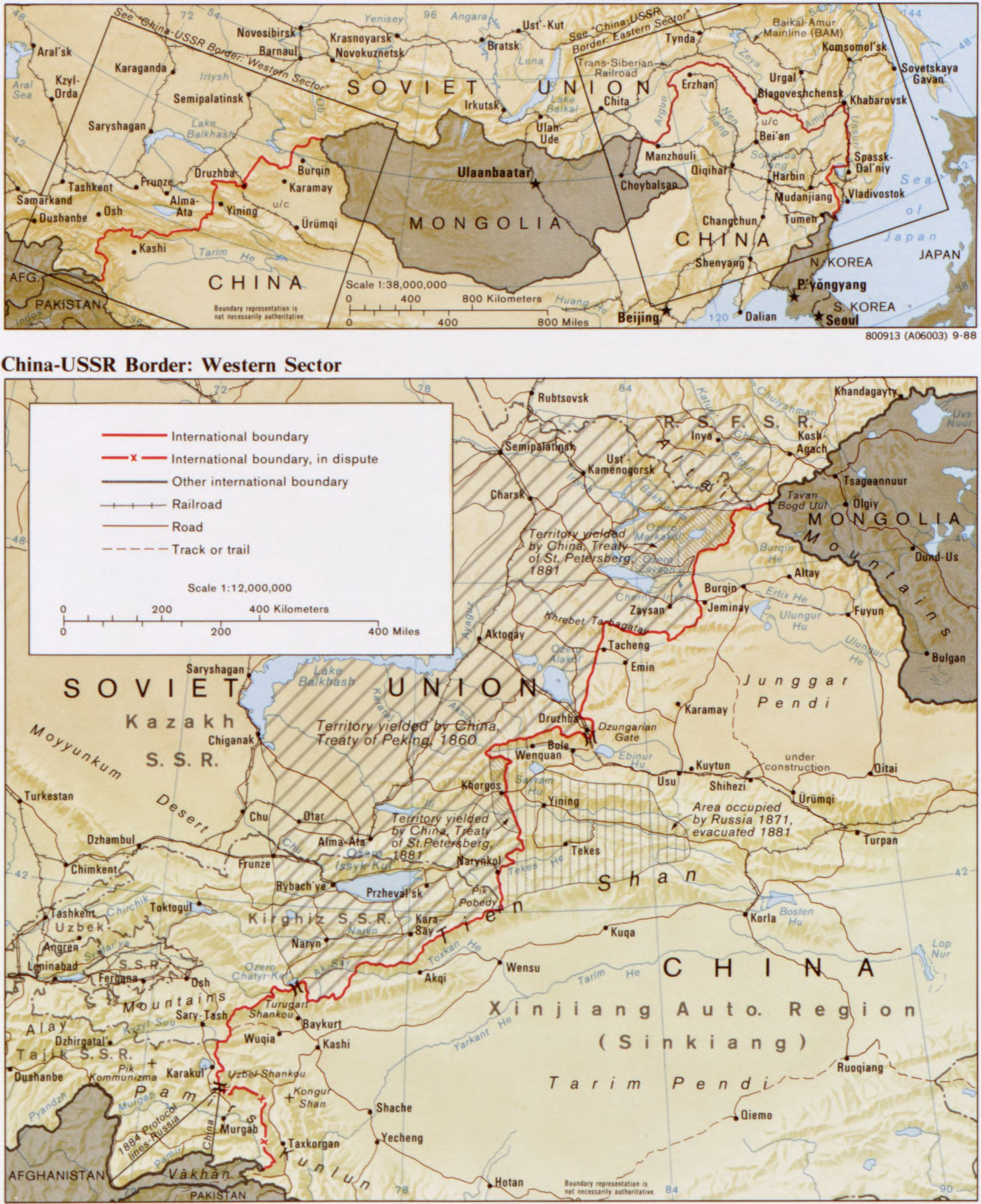 Sino-Soviet border conflict - Wikiwand on