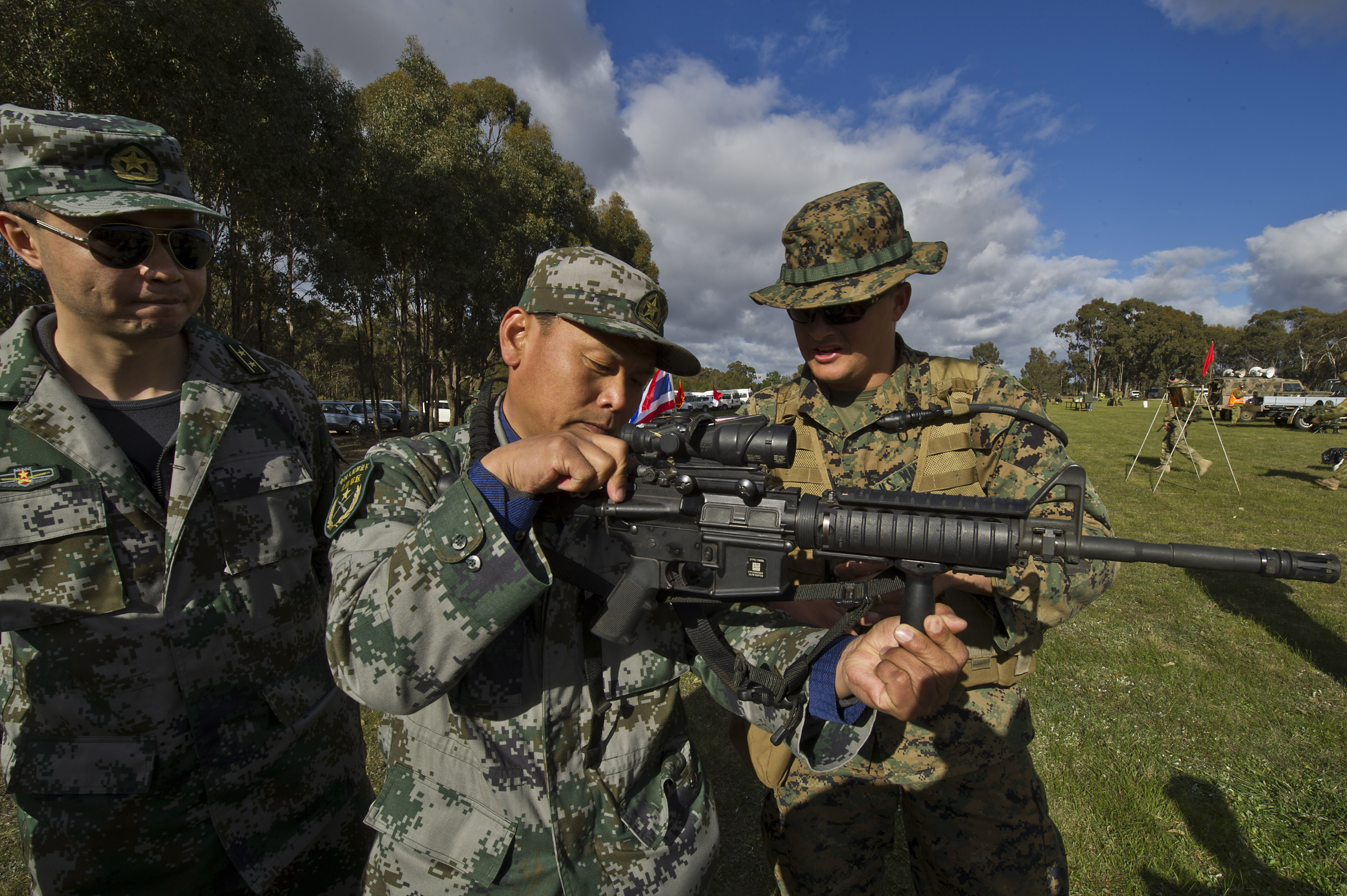 File:Chinese People's Liberation Army officers with the ...