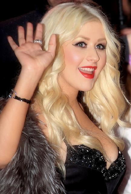 Aguilera at the premiere of Christina Aguilera