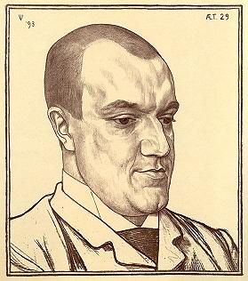 Portret van Lodewijk van Deyssel op 29-jarige leeftijd, door Jan Veth (1893)