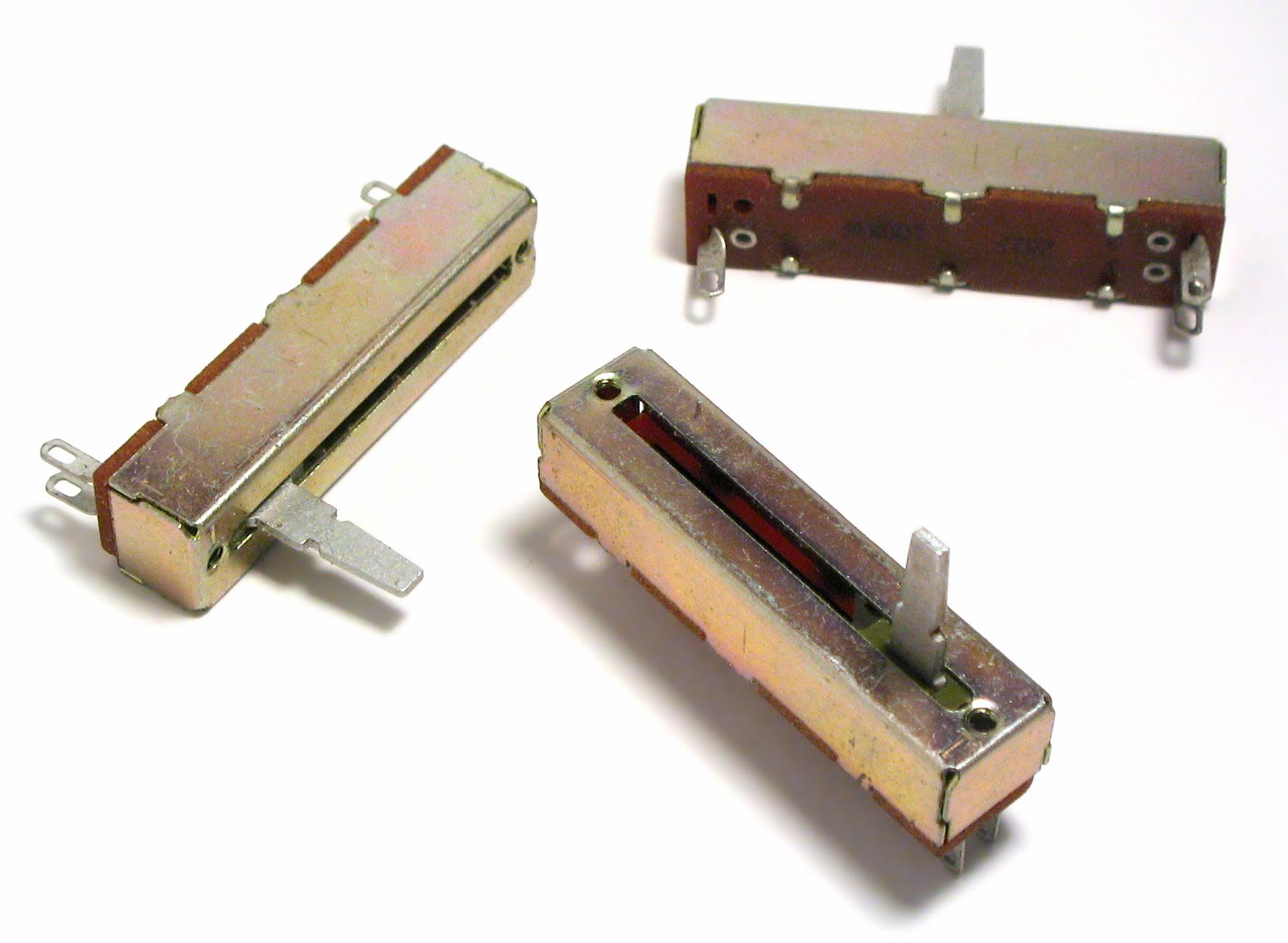 Modelo de potenciômetro com slider