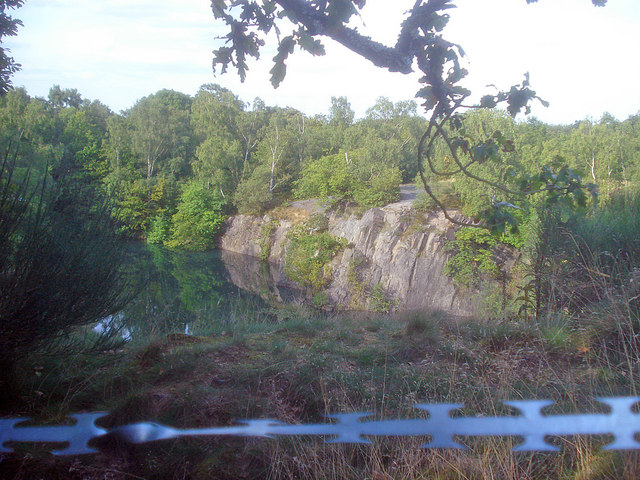 Flooded quarry in Swithland Wood - geograph.org.uk - 1471635