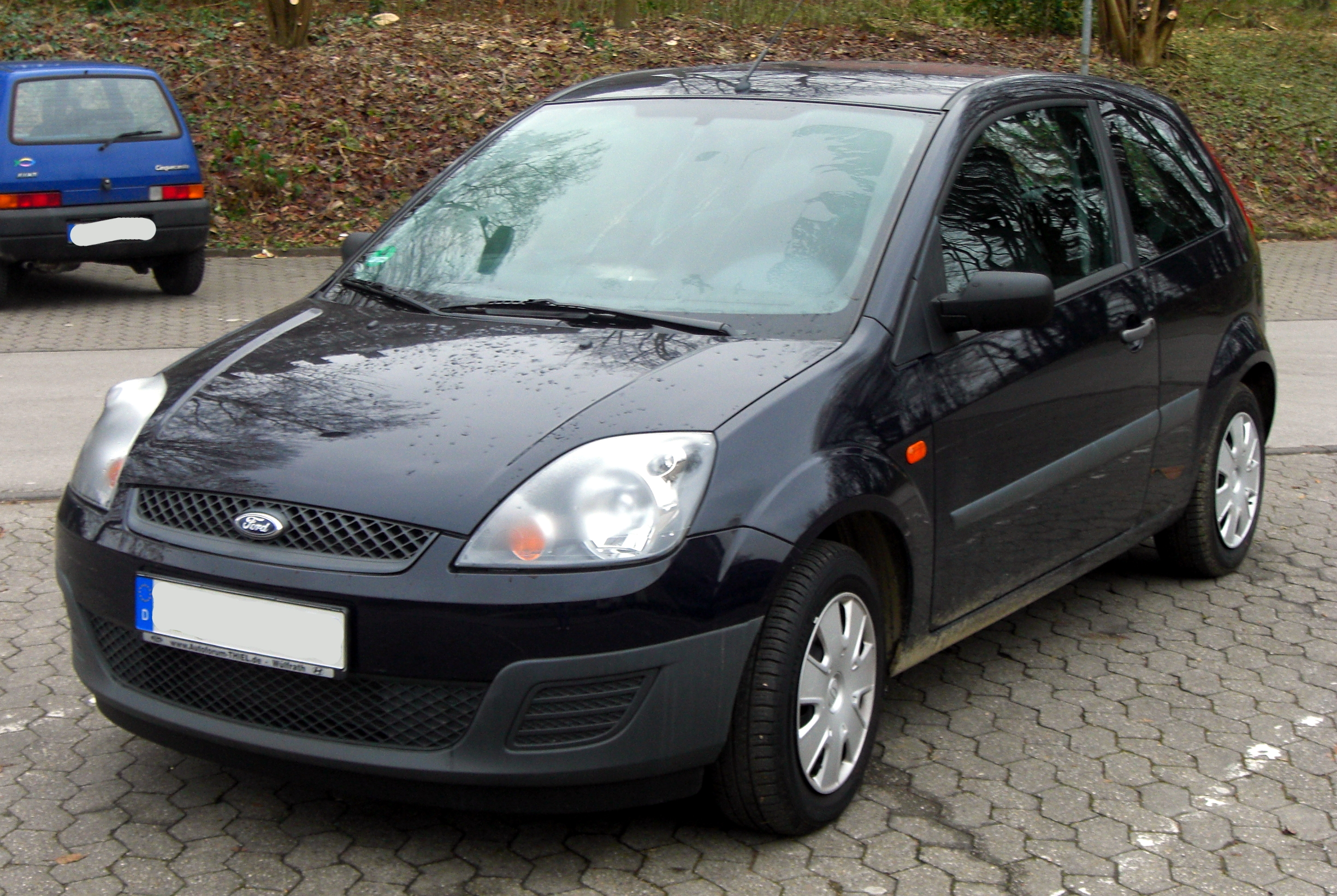 file ford fiesta mk6 facelift 2005 2008 front mj jpg wikimedia commons. Black Bedroom Furniture Sets. Home Design Ideas