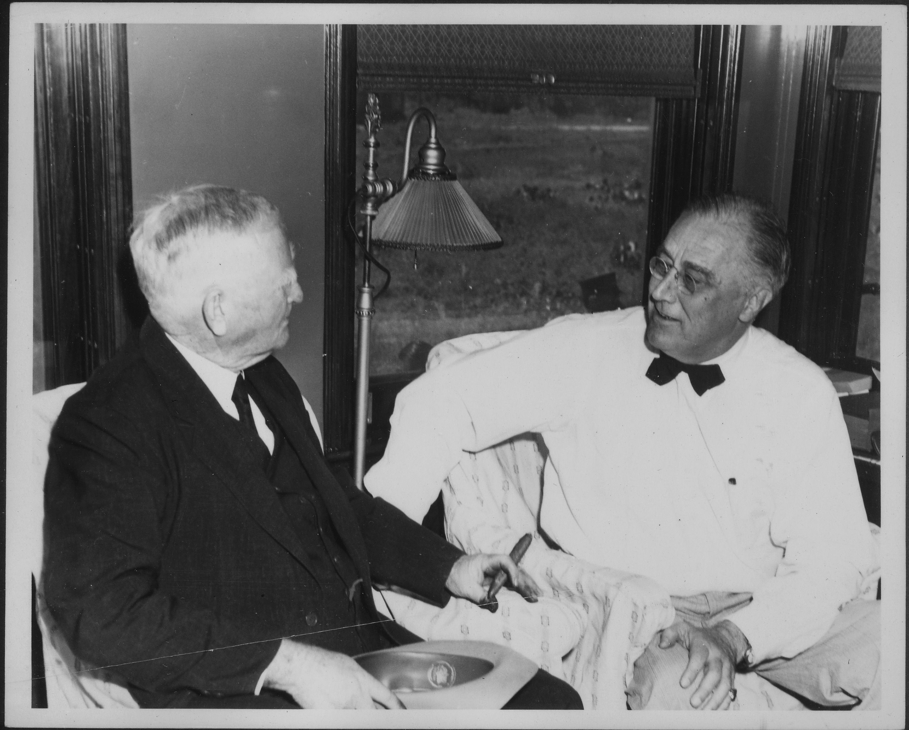 File:Franklin D. Roosevelt and John Nance Garner in Uvalde, Texas ...
