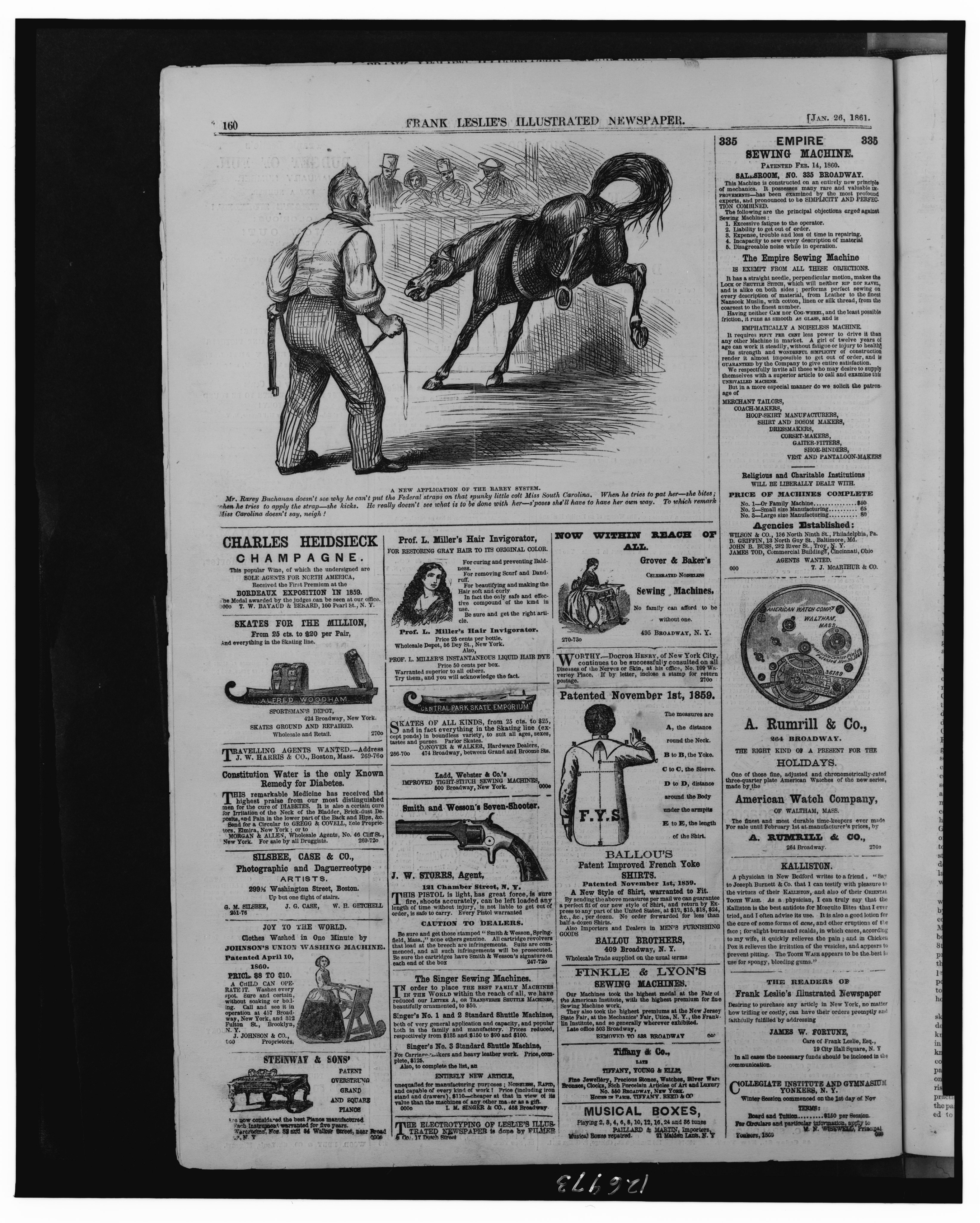 File:Full page of advertisements and cartoon,