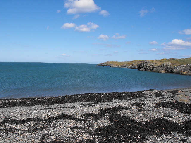 High tide at Cemlyn Bay - geograph.org.uk - 1227973