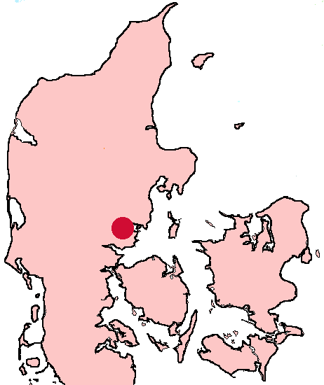 Horsens is located in the eastern part of the Jutland peninsula