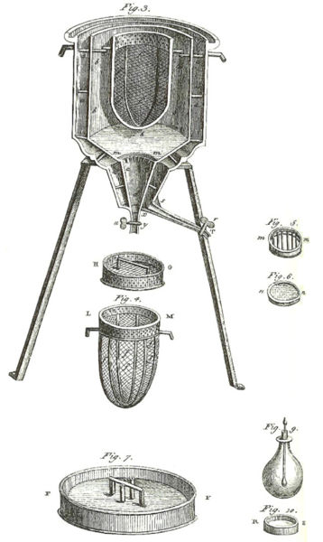 The first ice calorimeter