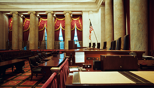 Inside the Supreme Court of the United States. Photo by Timothy R. Johnson and Jerry Goldman. Creative Commons Attribution-Share Alike 3.0 Unported.