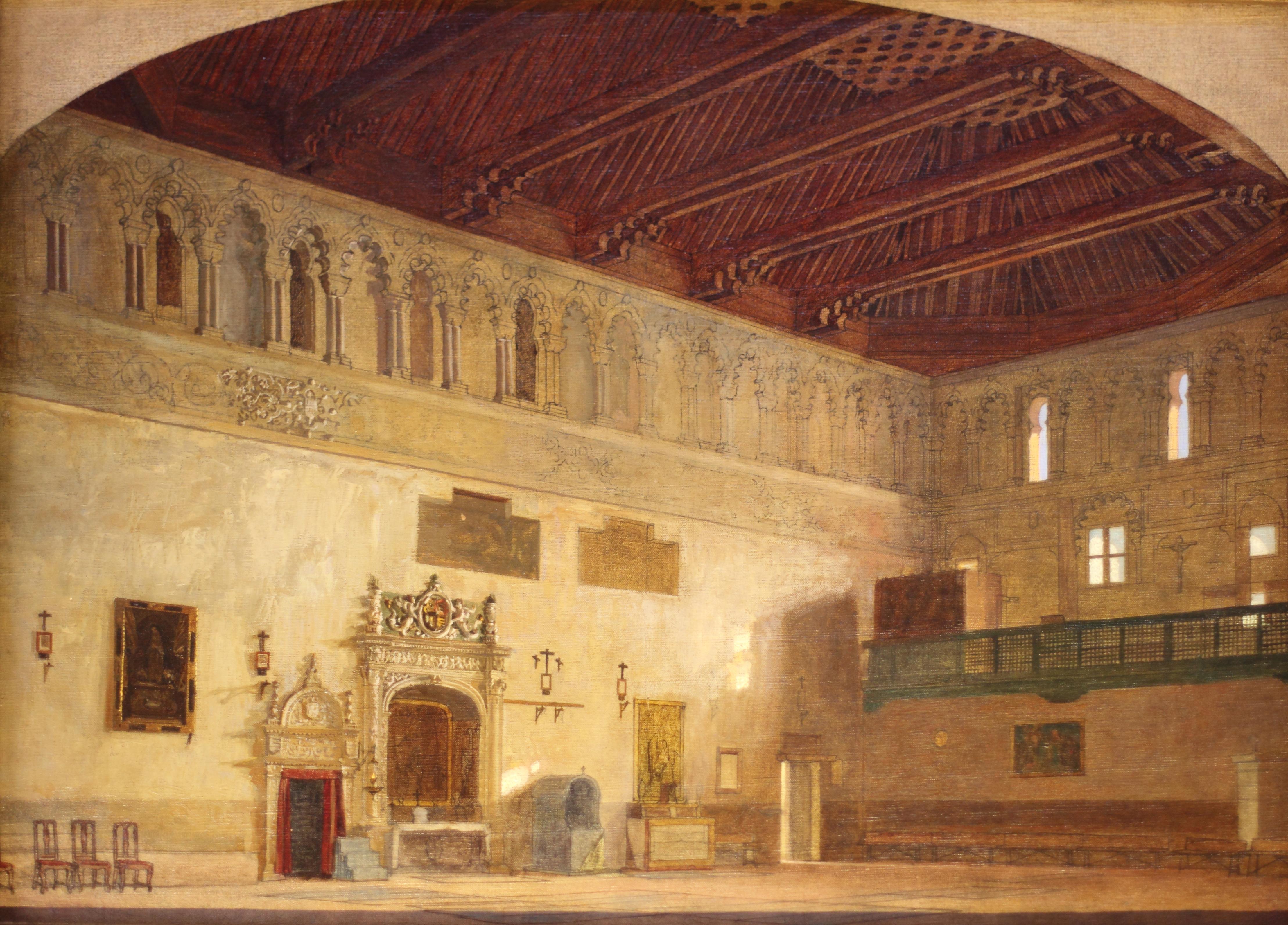 File:Interior de la iglesia de San Benito (Sinagoga del Tránsito).jpg - Wikim...
