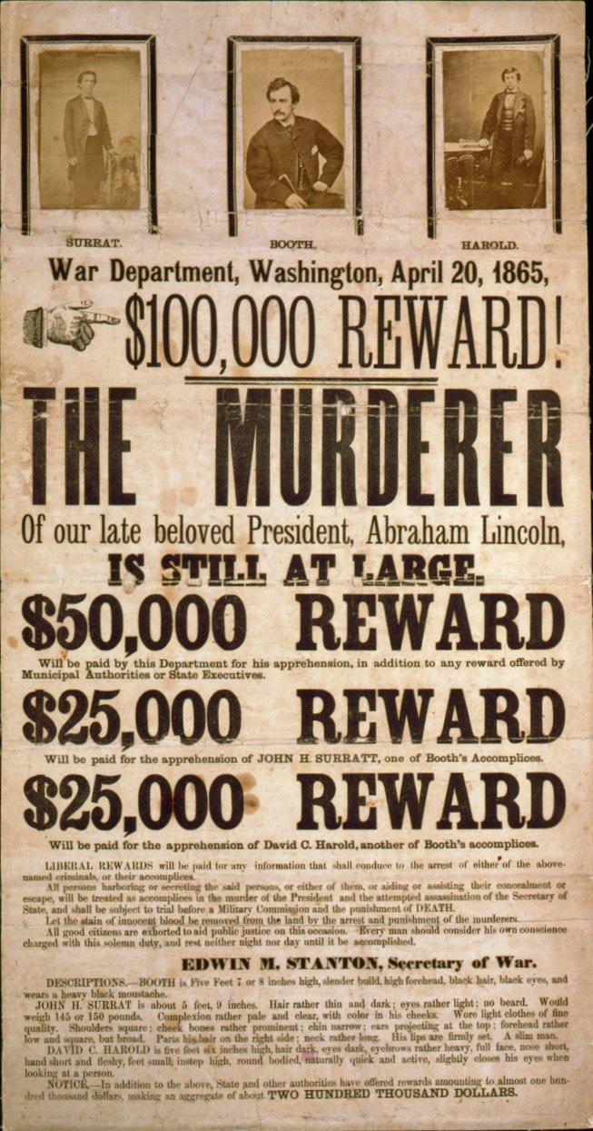 Dvoboj slika - Page 7 John_Wilkes_Booth_wanted_poster