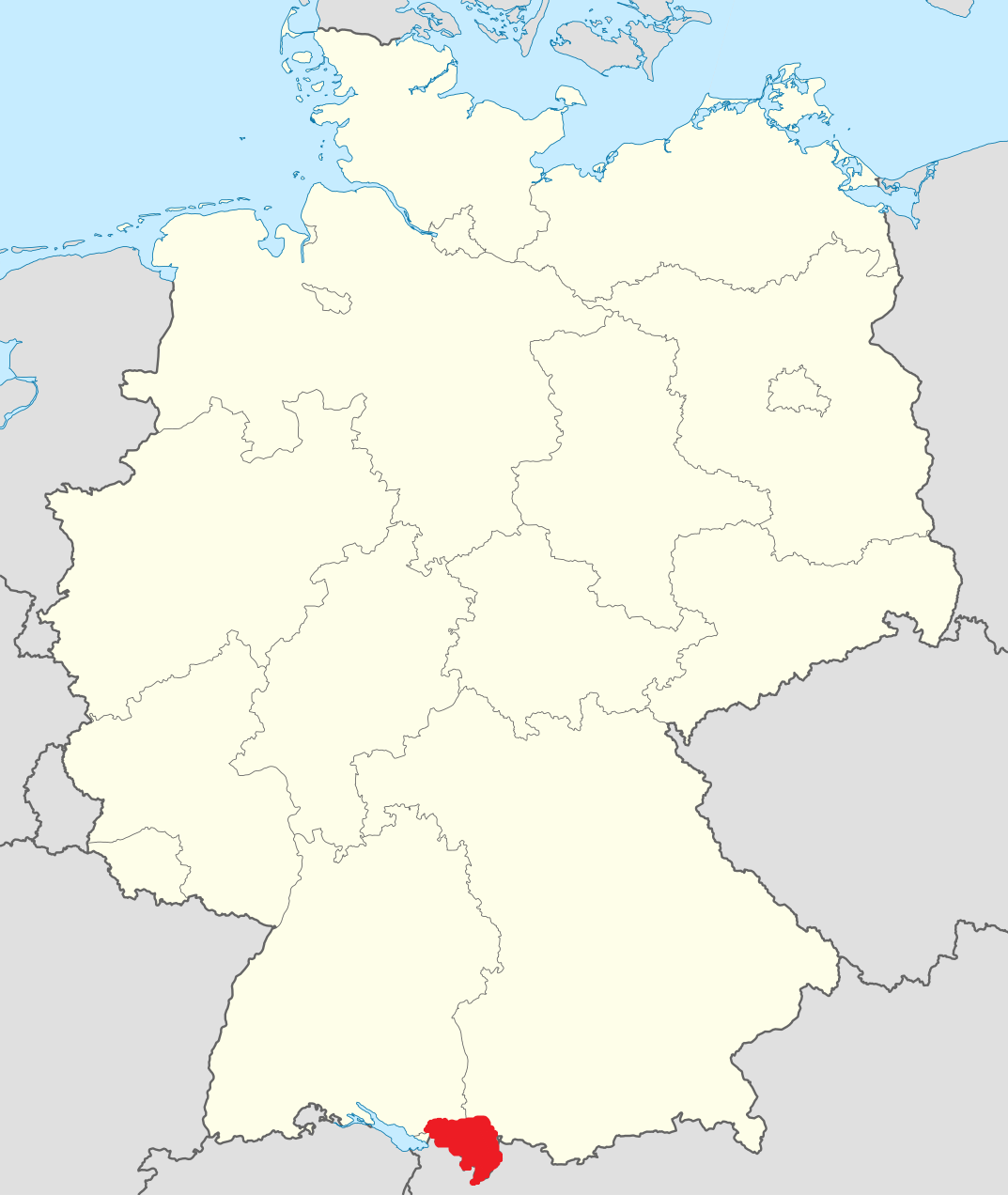 Allgäu in Germany (red)