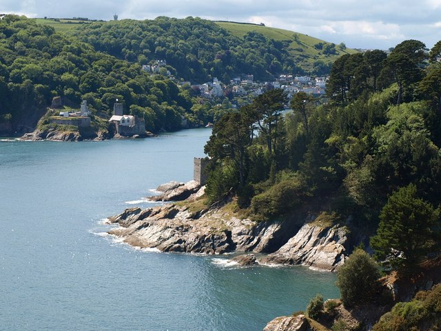 Kingswear Castle and the mouth of the Dart - geograph.org.uk - 1353334
