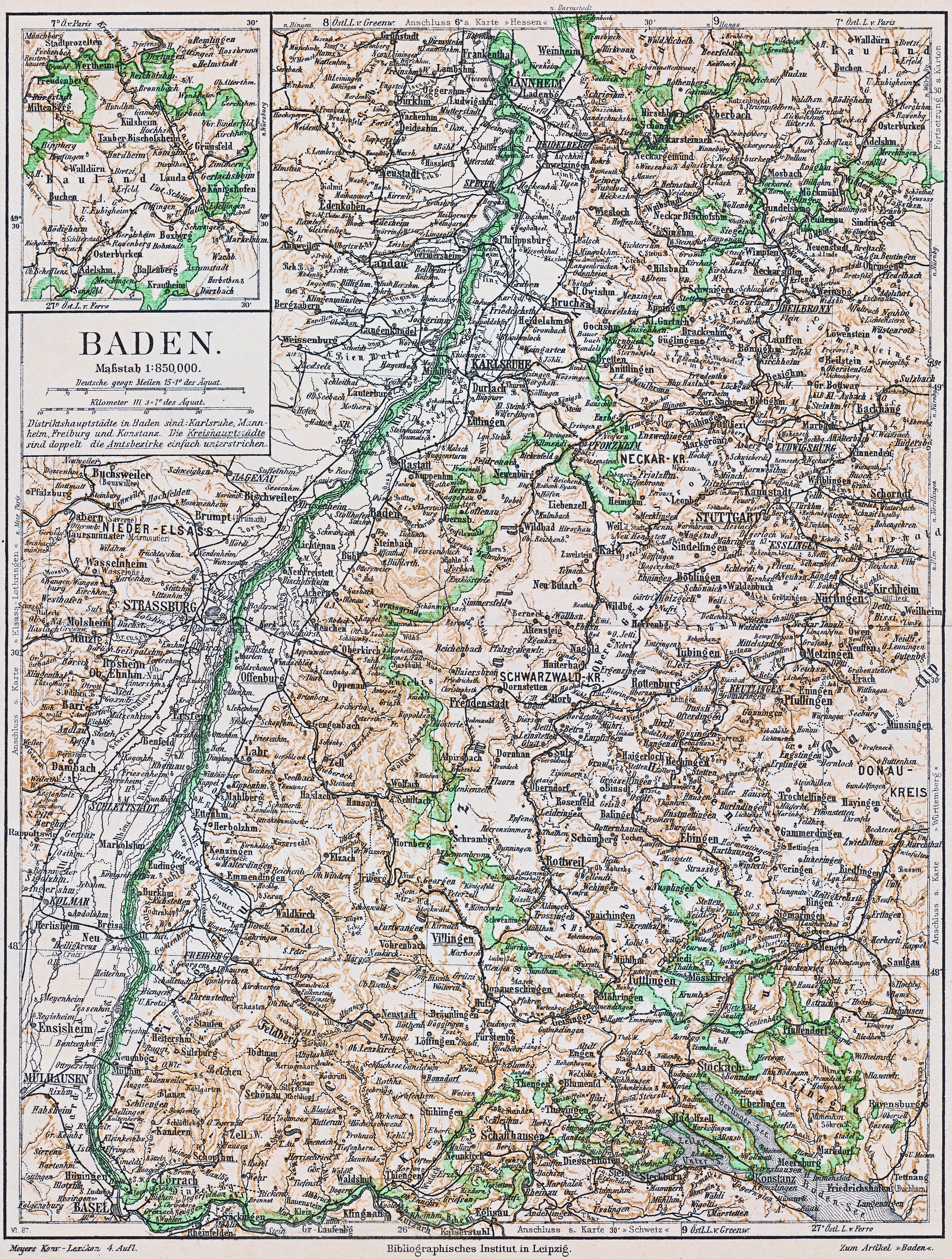 File Landkarte Baden 1885 Jpg Wikimedia Commons