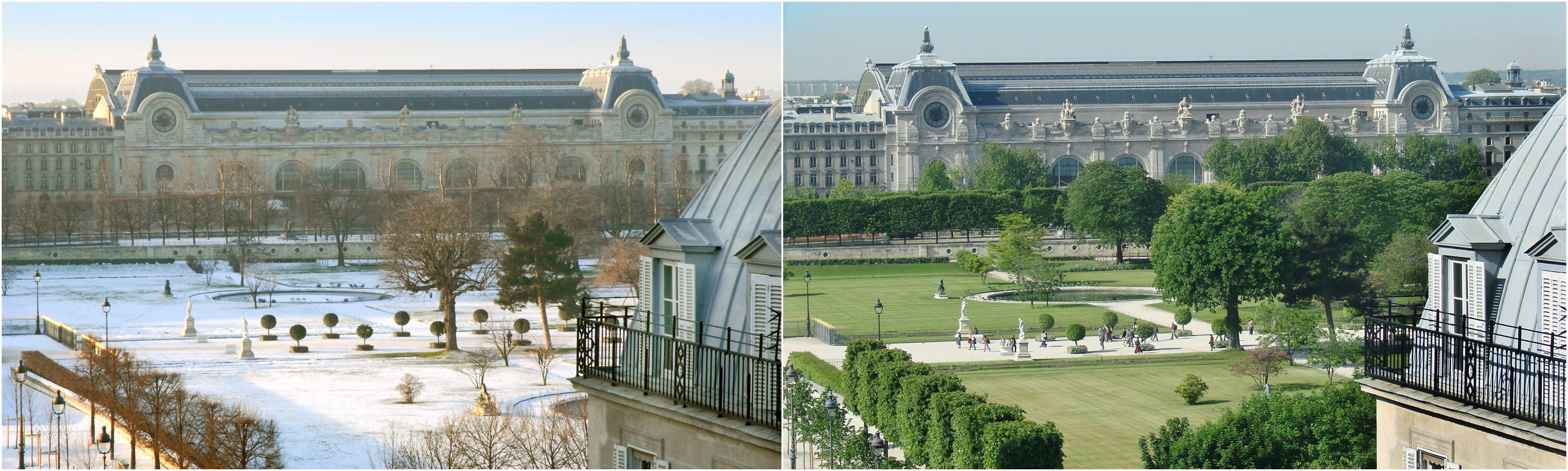 File le jardin des tuileries 4 mois plus tard janvier et for Jardin tuileries