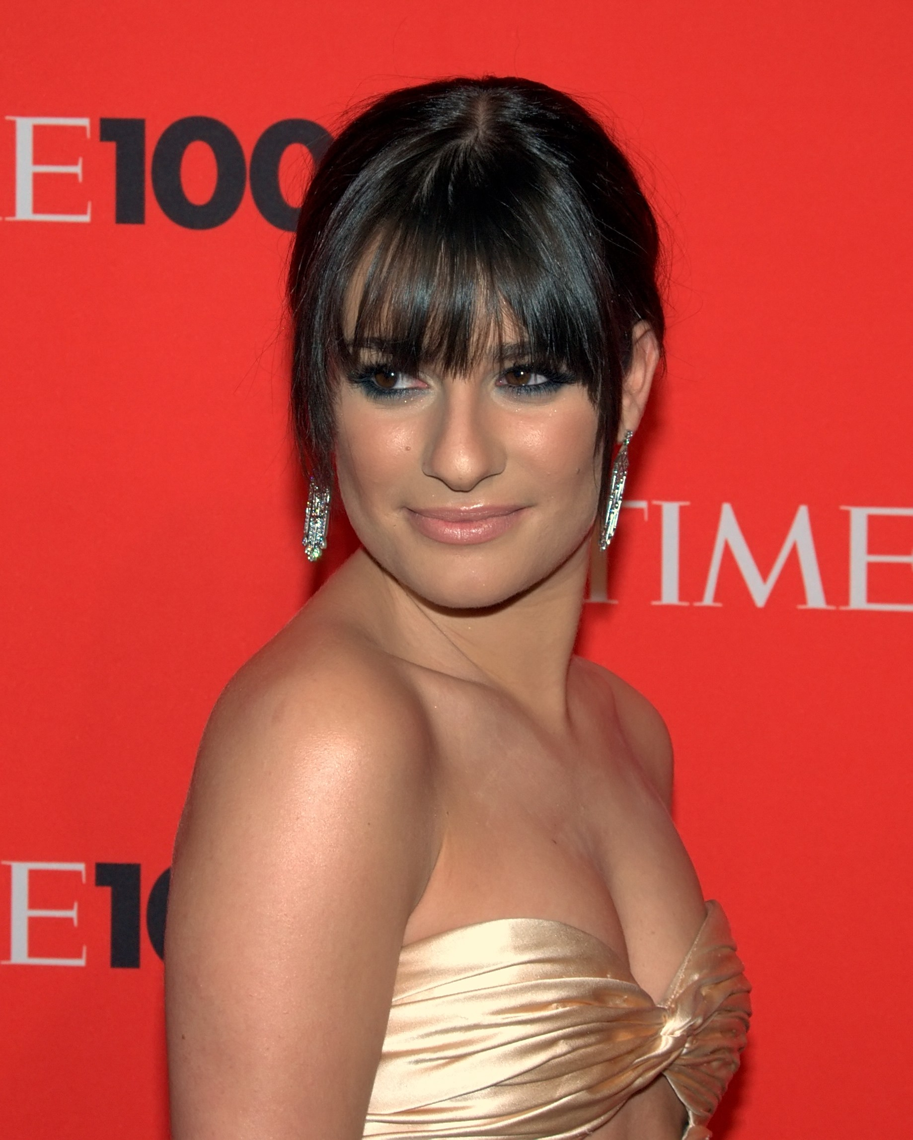 Michele at the Time 100 gala  Glee Rachel Real Name