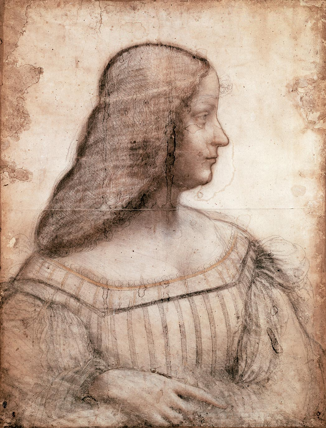 Image result for public domain images of leonardo da vinci's isabella d'este