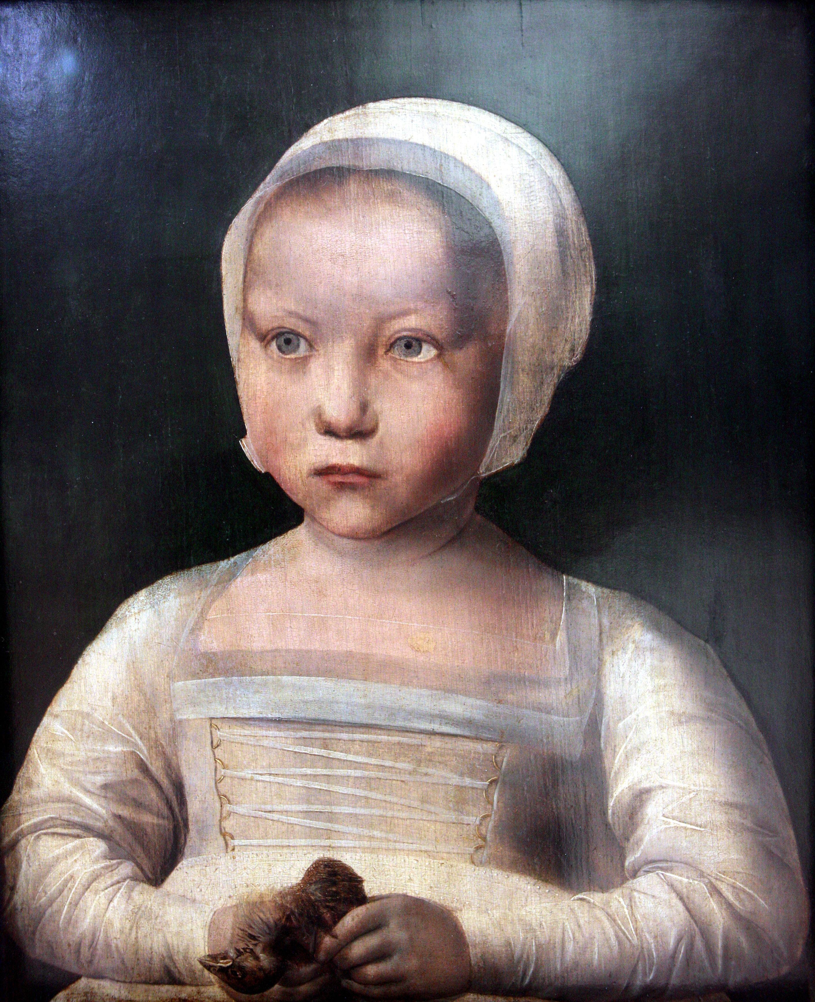 'little child with dead bird' c.1510s, Flemish, Koninklijke Musea voor Schone Kunsten van België