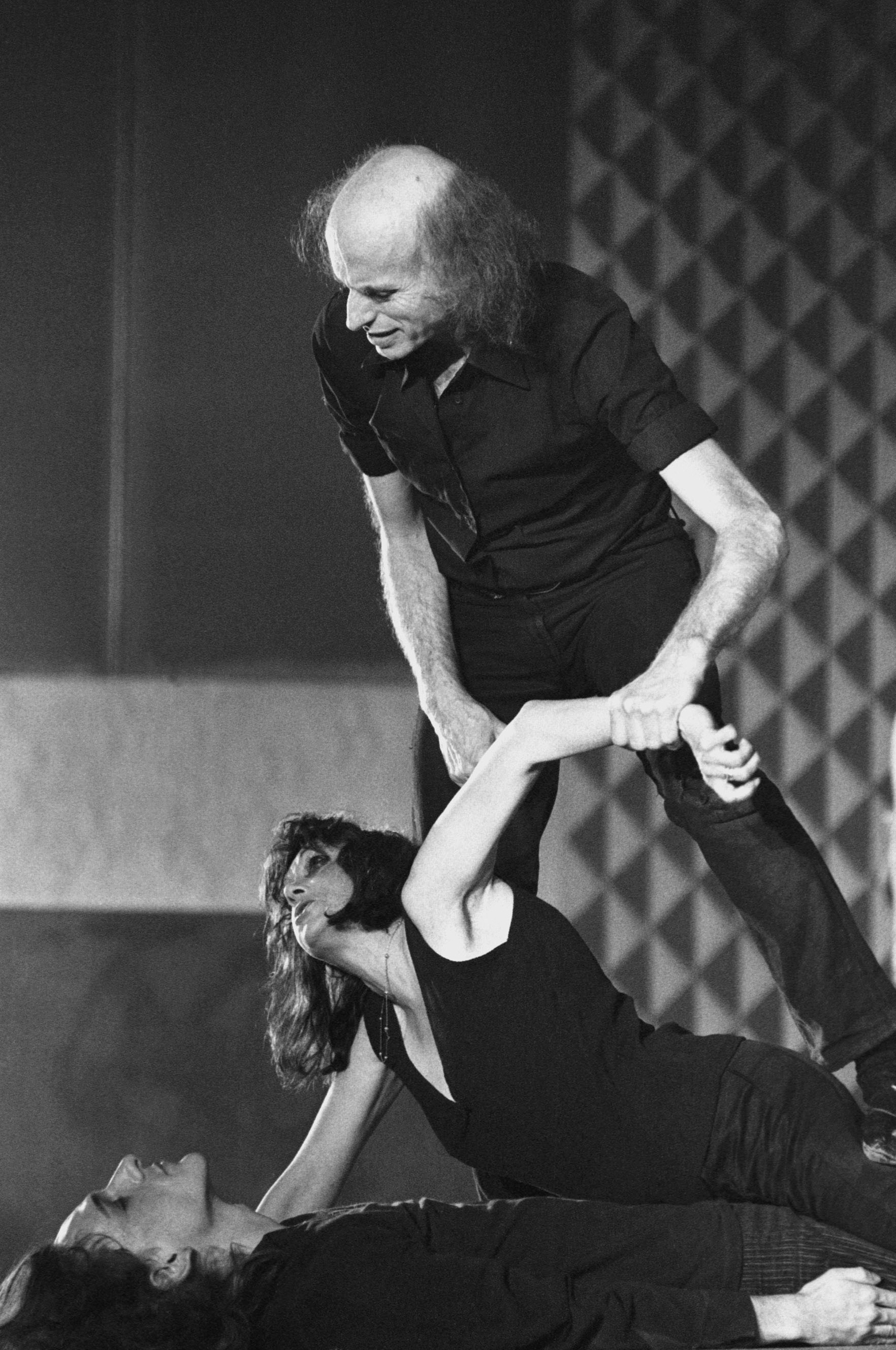 Julian Beck (top) and Judith Malina (middle) rehearsing at The Living Theatre
