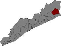Situación de Palafolls en la comarca de Maresme