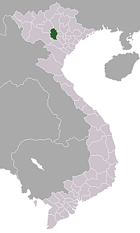 Location of Phú Thọ Province