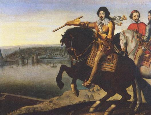 Неизвестный художник. Портрет Людовика XIII и кардинала Ришелье под Ла-Рошелью