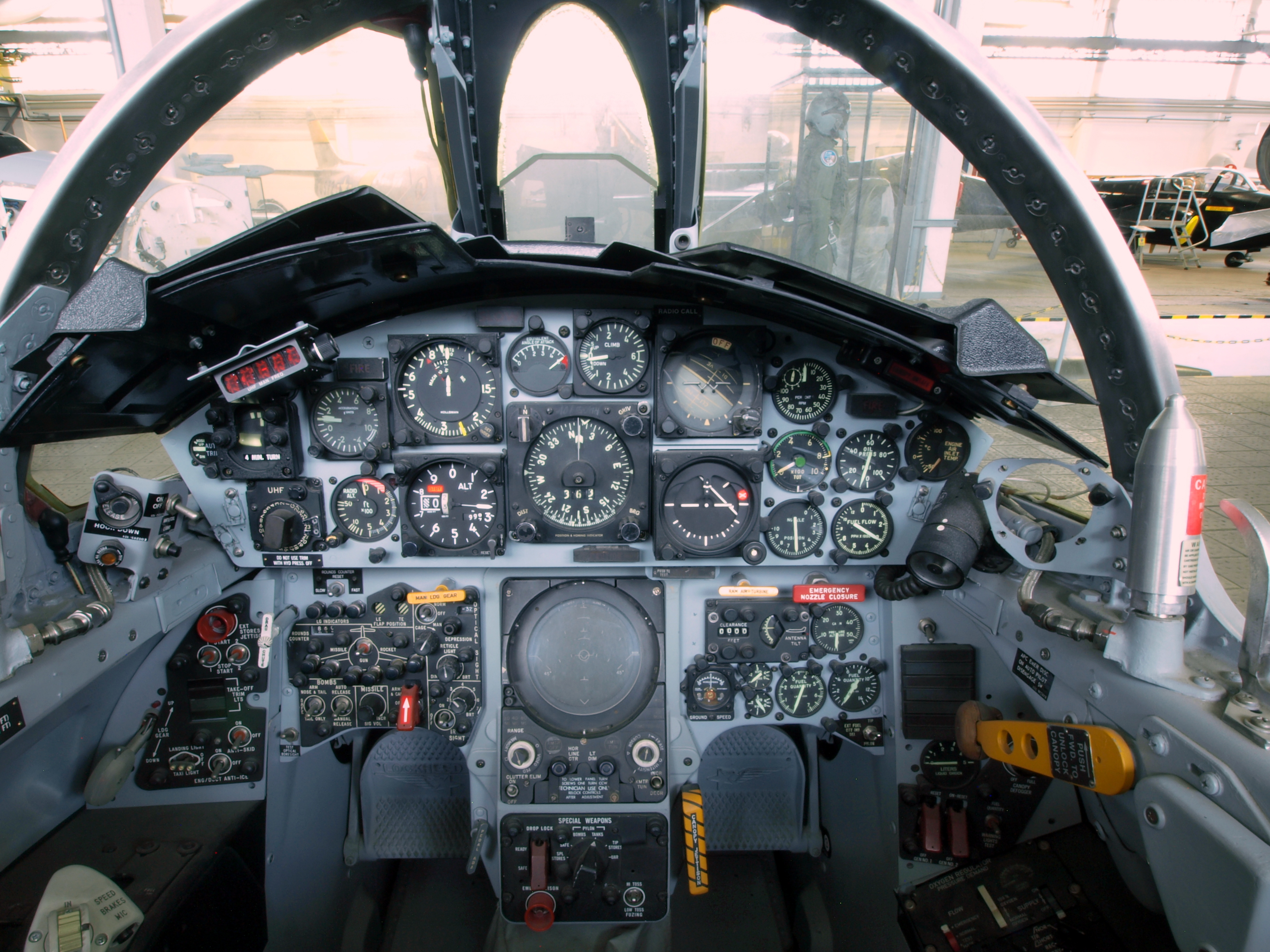 image of the F-104 Starfighter Cockpit