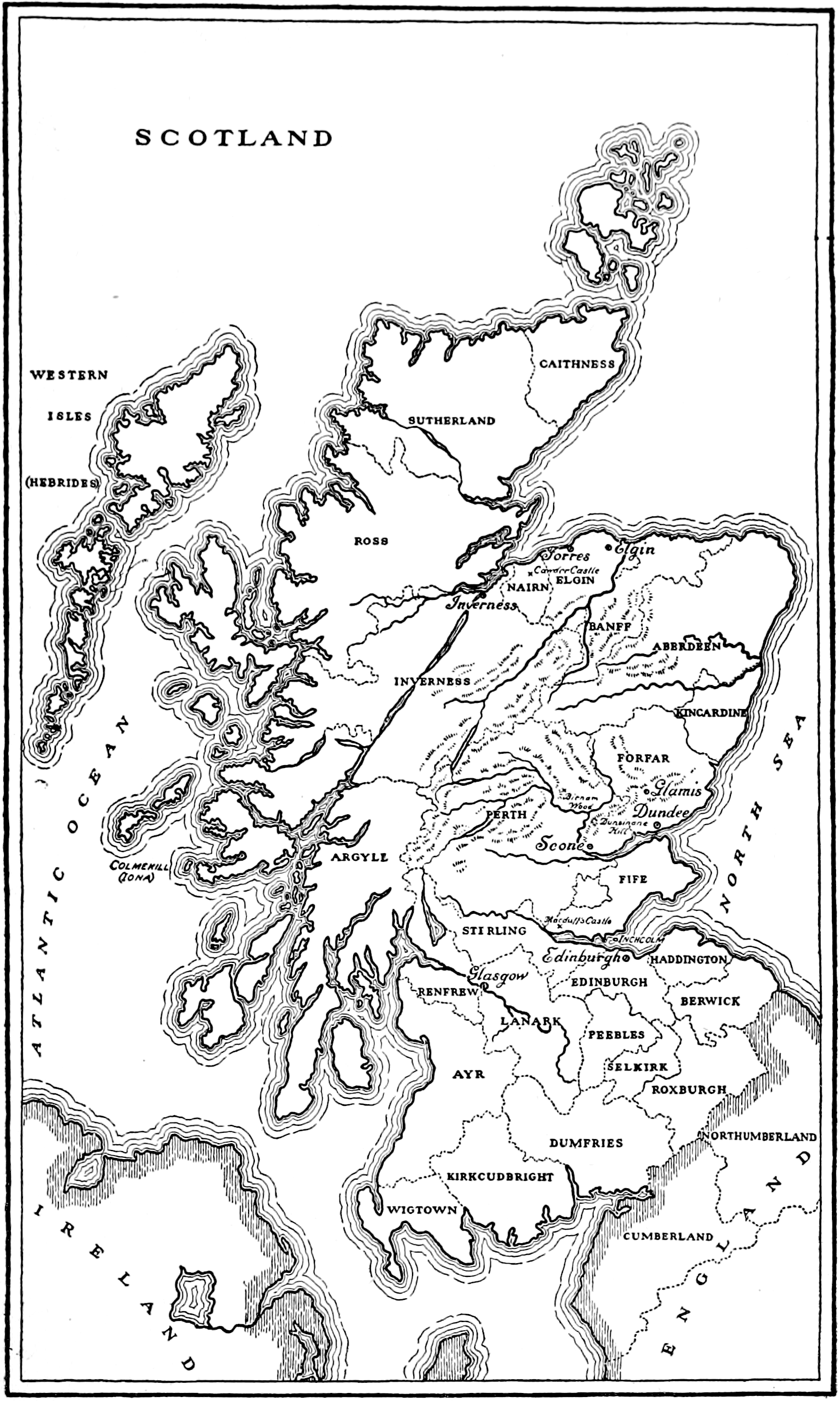 File Macbeth 1918 Map Of Scotland Png Wikimedia Commons
