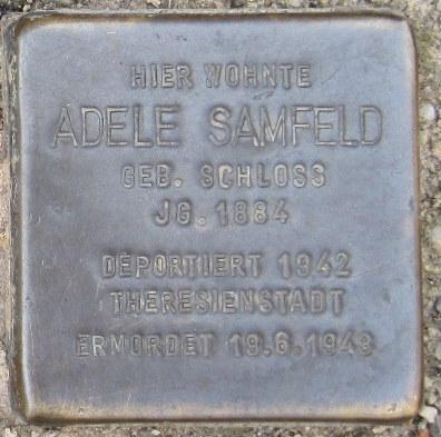 Mainbernheim Stolperstein Samfeld, Adele.jpg