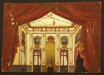 Set design for act 2 by Ugo Gheduzzi [it] for the world premiere performance Manon Lescaut Act 2 set.jpg
