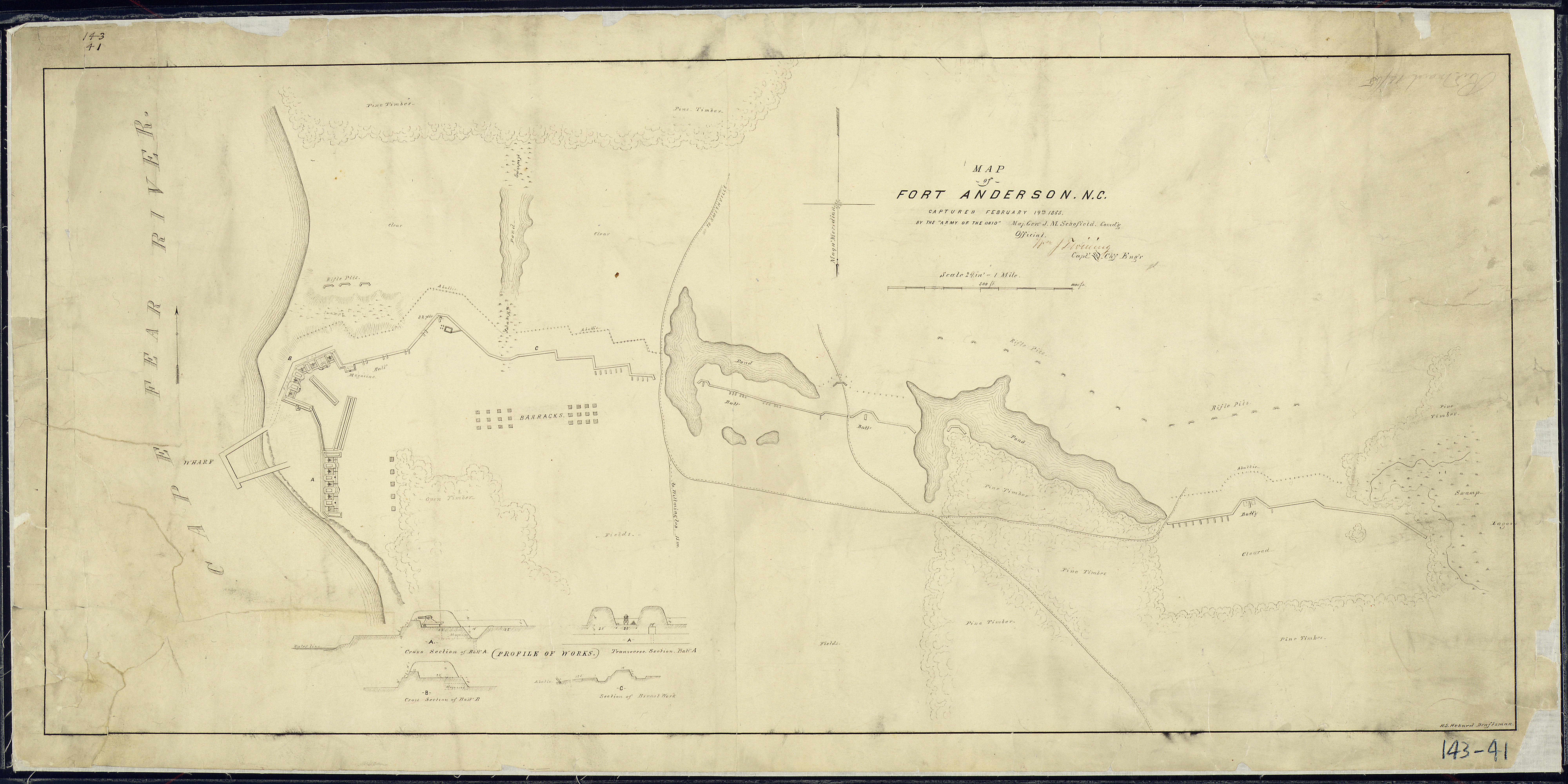File:Map of Fort Anderson, N.C., captured February 19th, 1865, By