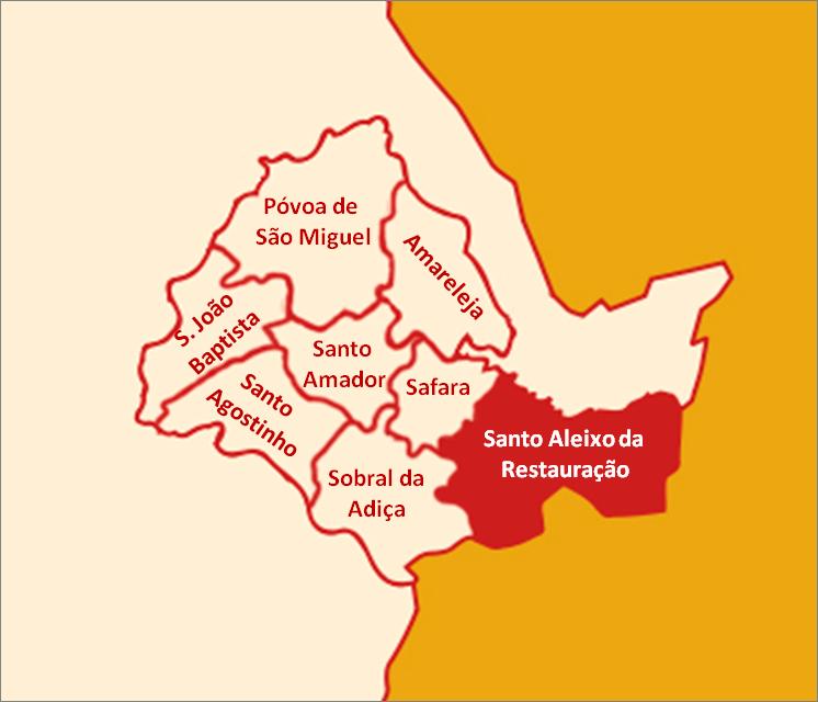 mapa de portugal moura Ficheiro:Mapa Freguesias de Moura   Santo Aleixo da Restauração  mapa de portugal moura