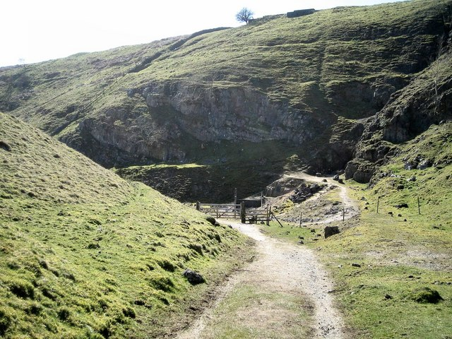 Mine entrances as one descends towards Troller's Gill - geograph.org.uk - 835853