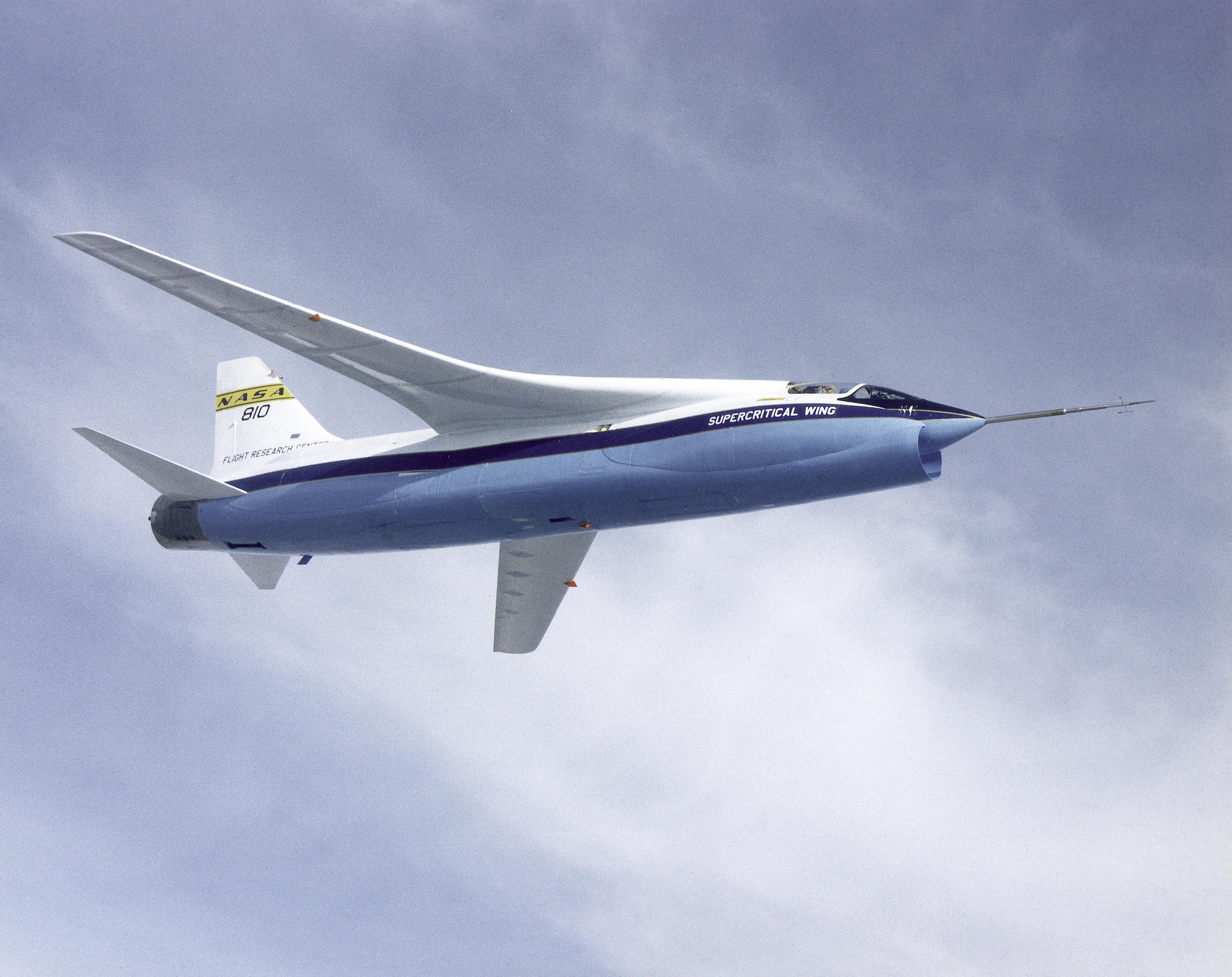 File:NASA F-8A Crusader Supercritical Wing Aircraft - GPN ...