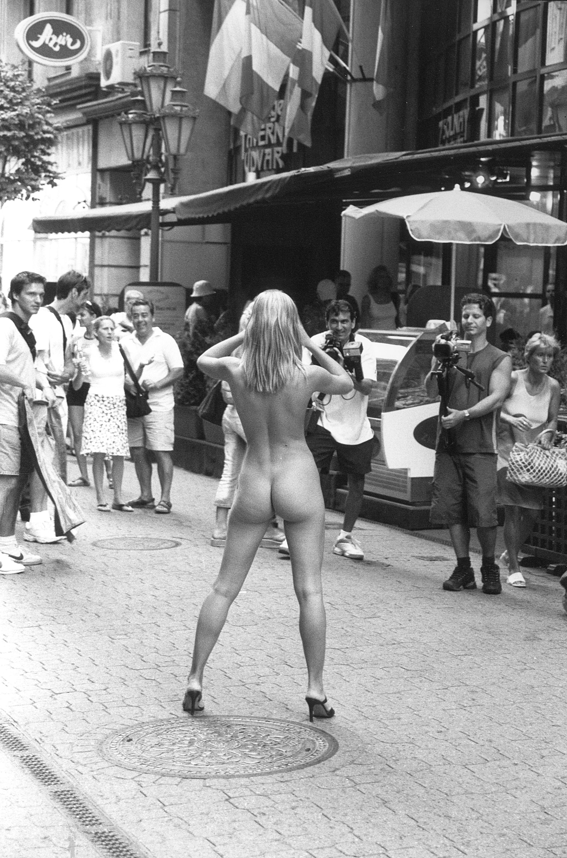 Nude Women On The Street