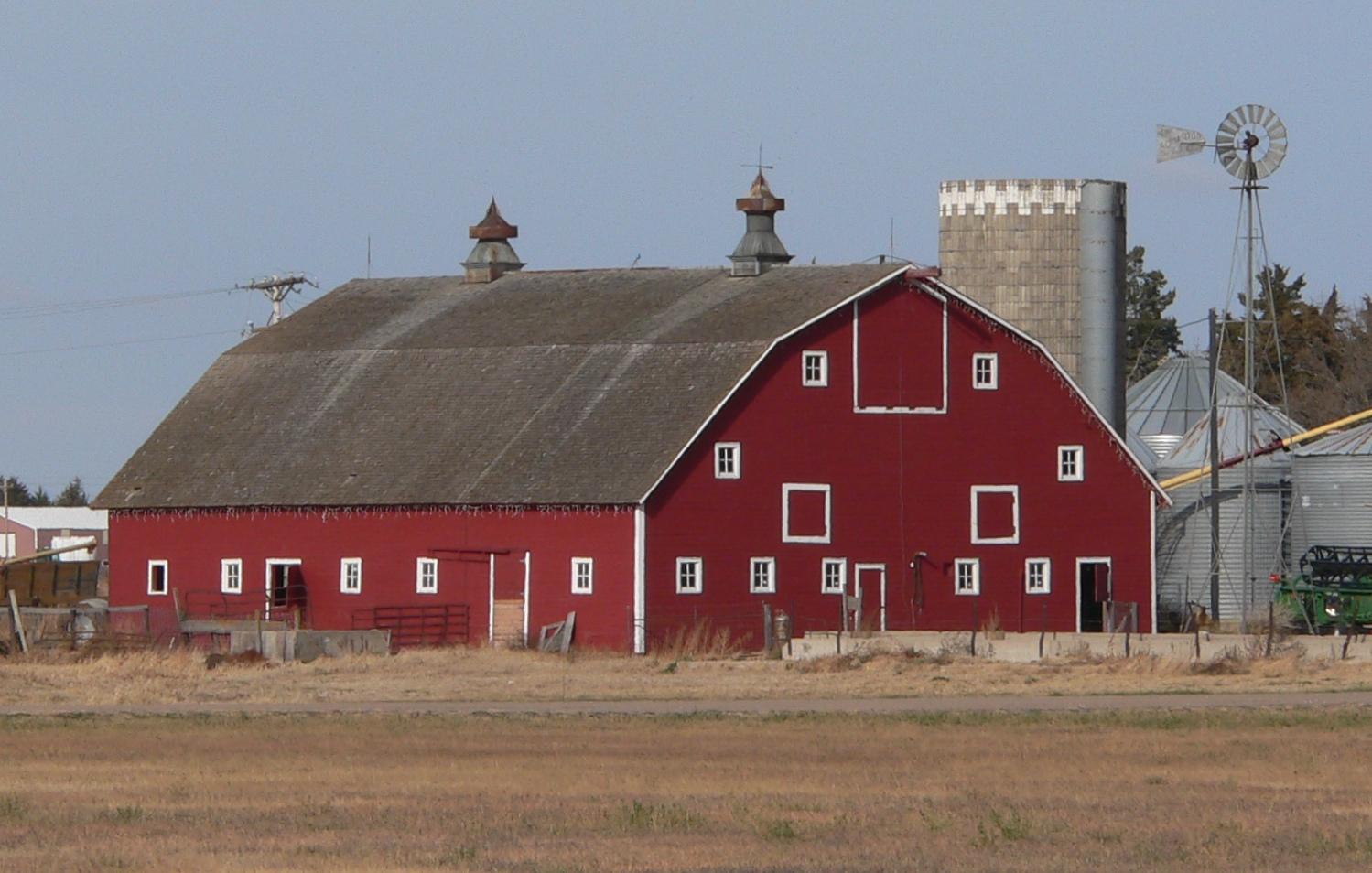 File:Nelson Farm (Merrick County, Nebraska) barn from SE 1 ...