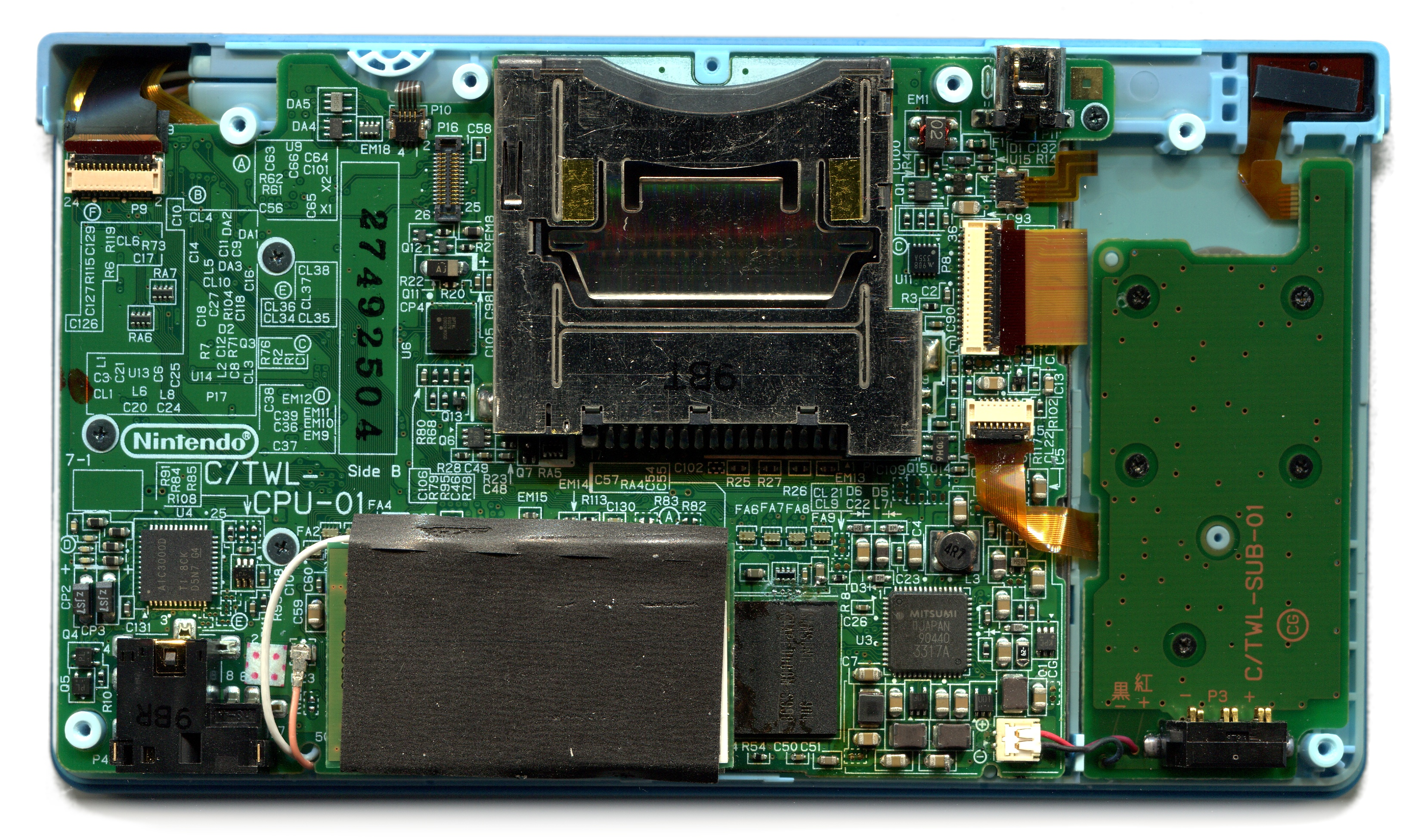 Filenintendo Dsi Main And Sub Pcb Wikimedia Commons Here Is The Printed Circuit Board Click On It To