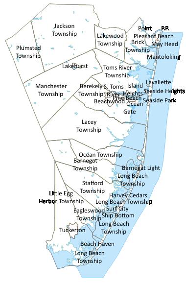 Ocean County Nj Town Map 380x580 Map