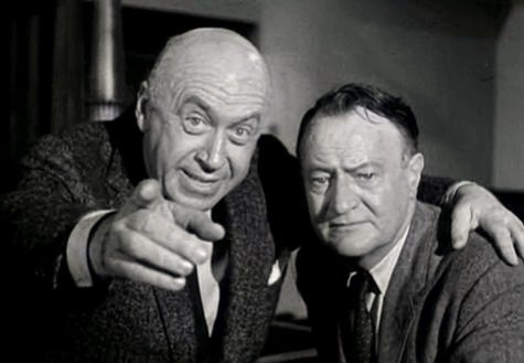 Otto Preminger-John D. Voelker in Anatomy of a Murder trailer.jpg