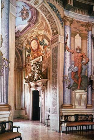 File Palladio Rotonda Interior Jpg Wikimedia Commons