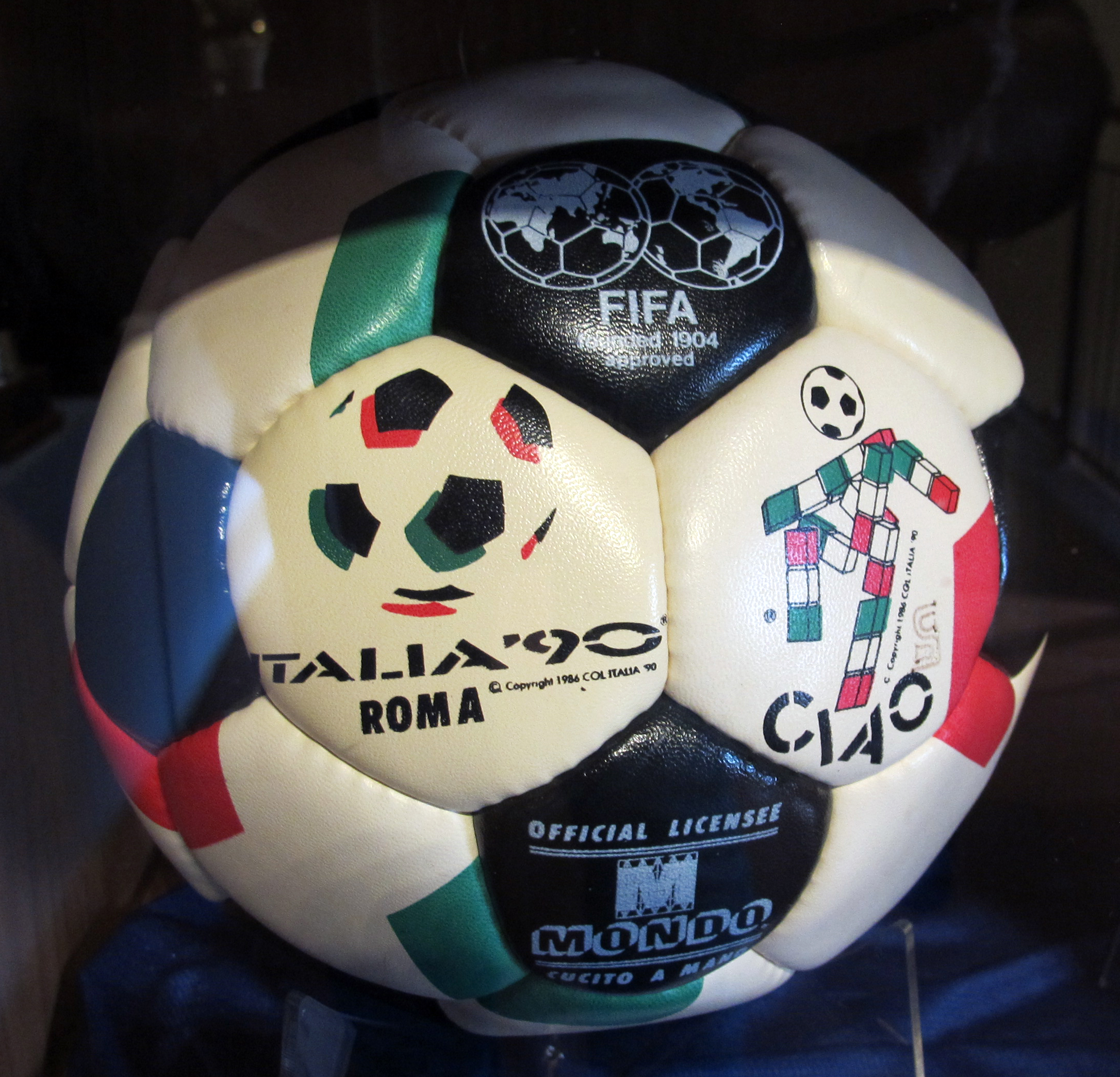 File:Official match ball in Rome.jpg Wikimedia Commons