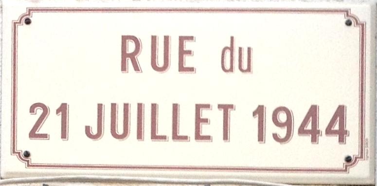 Panneau Rue du 21-juillet-1944 à Dortan.