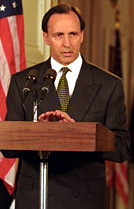 Image of Paul Keating at the White House in 1993
