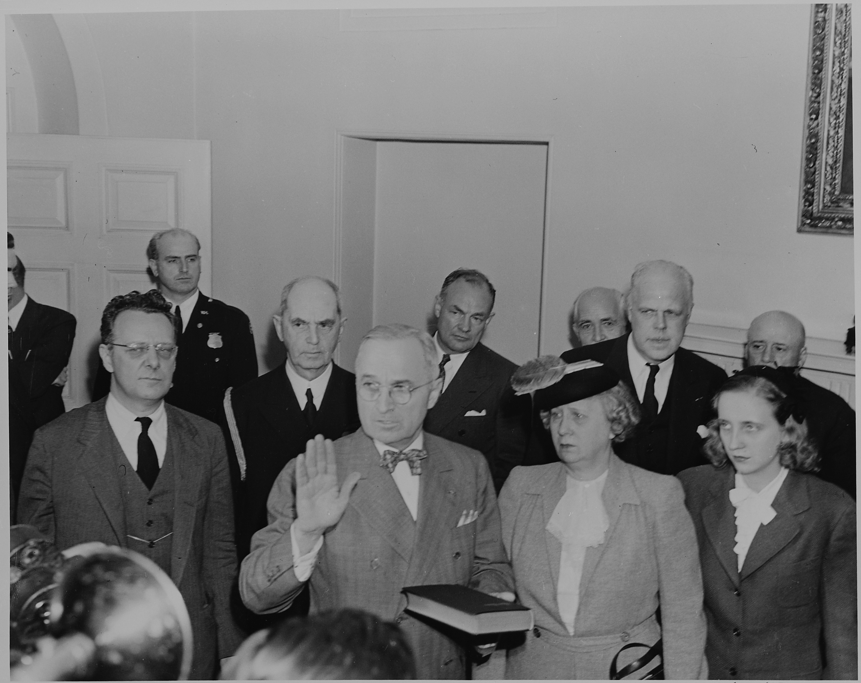 FilePhotograph of President Harry S Truman taking the oath of – Oath of Office Template