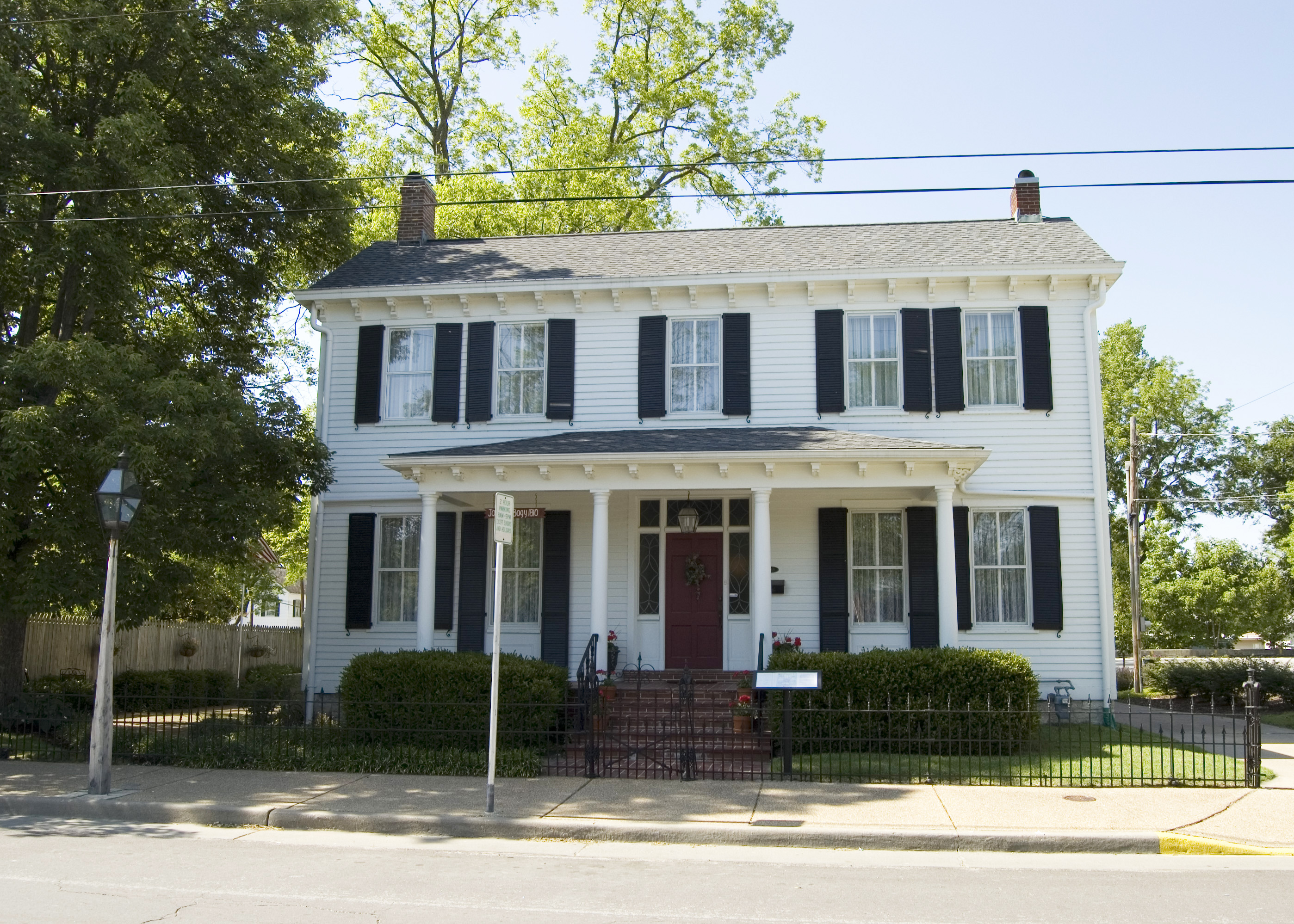 file photograph of the joseph bogy house in ste genevieve mo jpg